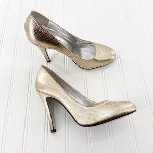 Jessica Simpson Classic Heels Pumps Gold size 8.5